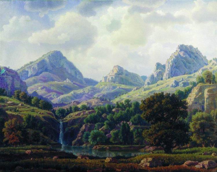 Mountain landscape, 1940 - Constantin Bogaïevski