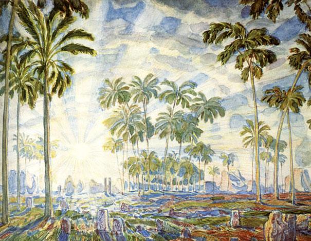 Palm trees, 1908 - Konstantin Bogaevsky