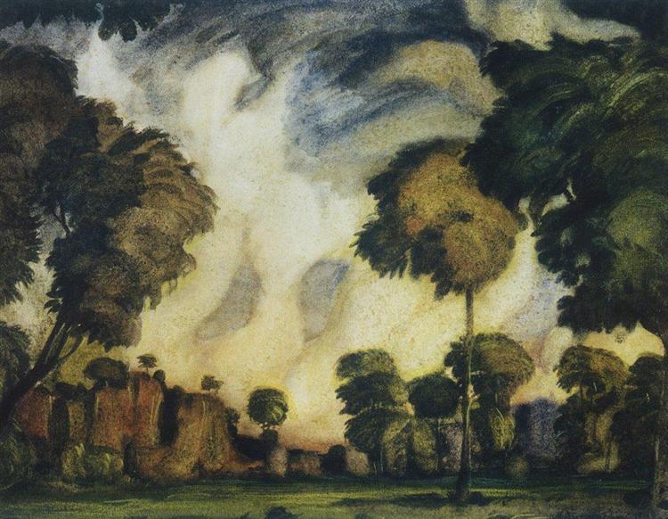 Romantic landscape, 1908 - Constantin Bogaïevski