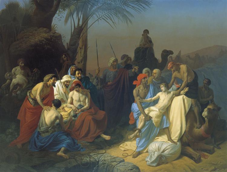 Children of Jacob sell his brother Joseph, 1855 - Konstantin Dmitriyevich Flavitsky