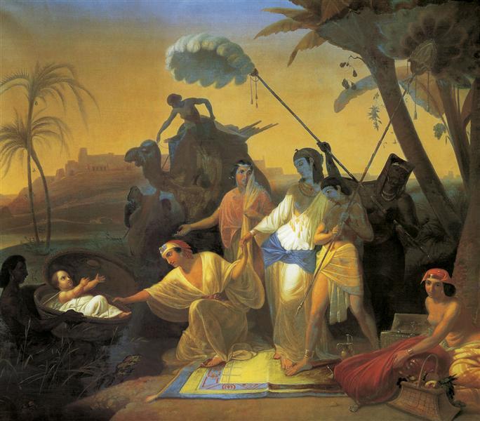 Pharaoh's daughter finding baby Moses - Konstantin Flavitsky