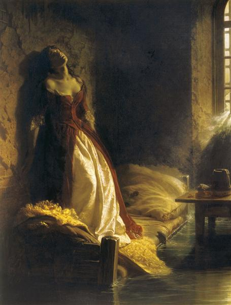 Princess Tarakanova, in the Peter and Paul Fortress at the Time of the Flood - Konstantin Dmitriyevich Flavitsky