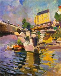 Bridge in Saint Cloud - Konstantin Alexejewitsch Korowin