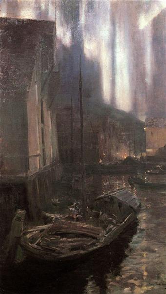 Hammerfest. The Nothern Lights, 1894 - 1895 - Konstantin Korovin