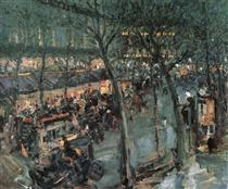 Paris.Cafe de la Paix - Konstantin Alexejewitsch Korowin
