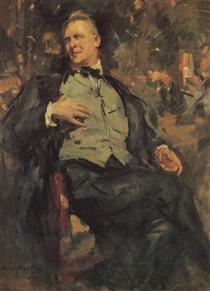 Portrait ofChaliapin - Konstantin Alexejewitsch Korowin
