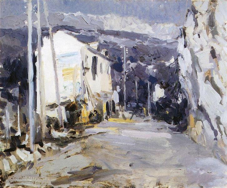 The road in the southern city, 1908 - Konstantin Korovin