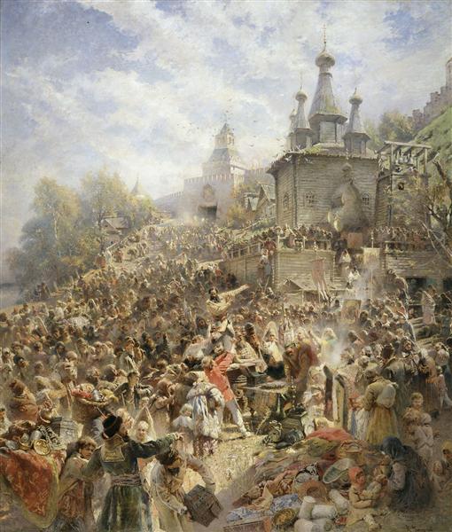 Appeal of Minin, 1896 - Konstantín Makovski