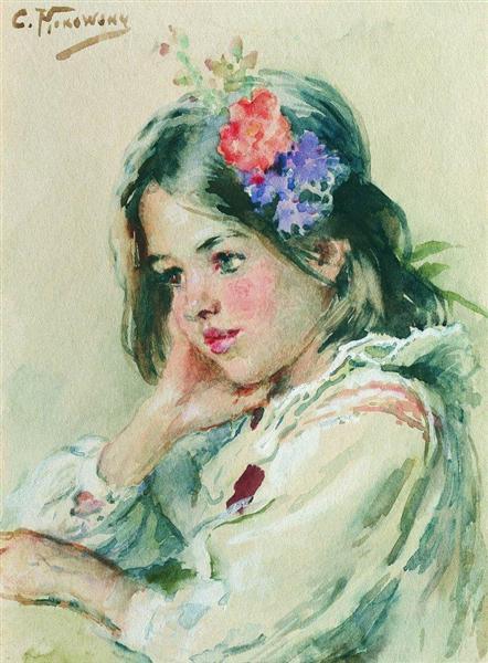 Girl - Konstantin Makovsky