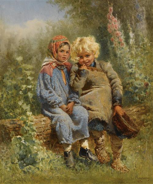 Peasant Children at rest, 1875 - Konstantin Makovsky