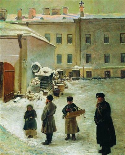 Petersburg Patio - Konstantin Makovsky