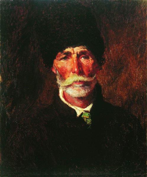 Portrait of E.Gilechenko - Konstantin Makovsky