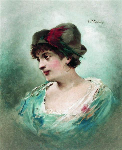 Portrait of Maria Petipa, c.1900 - Konstantin Makovsky