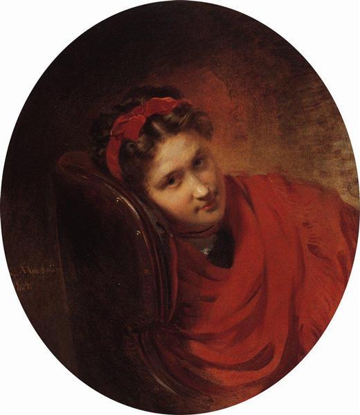 Portrait of O.Makovskaya, 1864 - Konstantin Makovsky