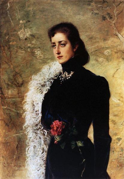 Portrait of V.Bahrushina, c.1900 - Konstantin Makovsky