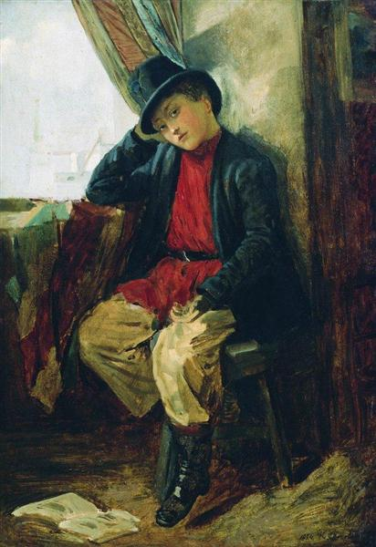 Portrait of Vladimir Makovsky in Childhood, 1854 - Konstantin Makovsky