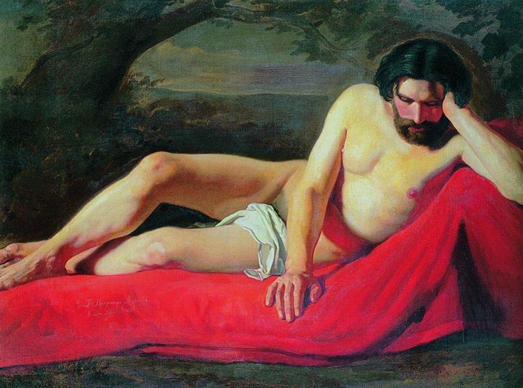 Reclining Model, c.1850 - Konstantin Makovsky