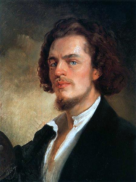 Self-Portrait, 1856 - Konstantin Makovsky