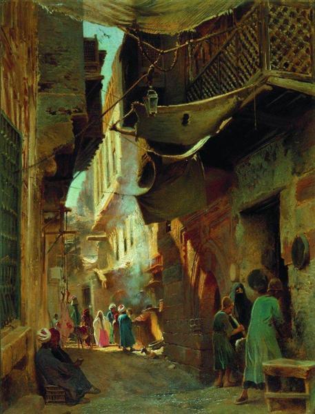 Street in Cairo, 1873 - Konstantin Makovsky
