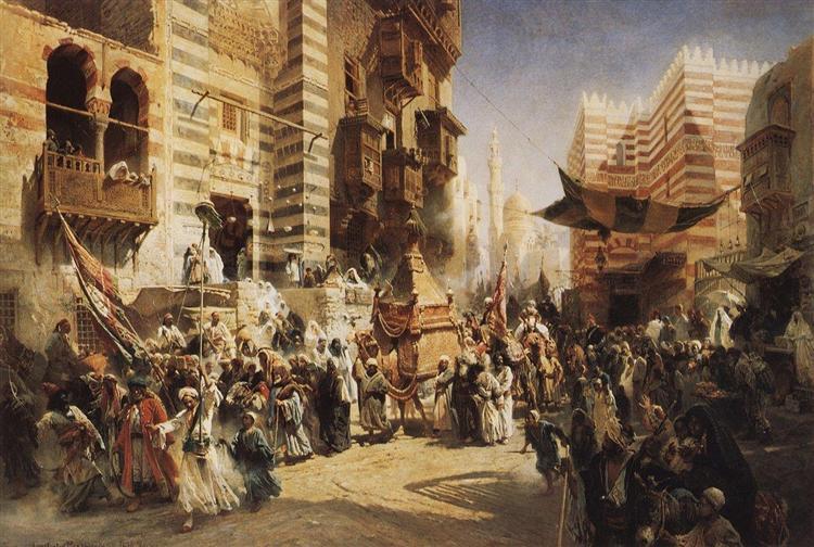 The handing over of the Sacred Carpet in Cairo, 1876 - Konstantin Makovsky