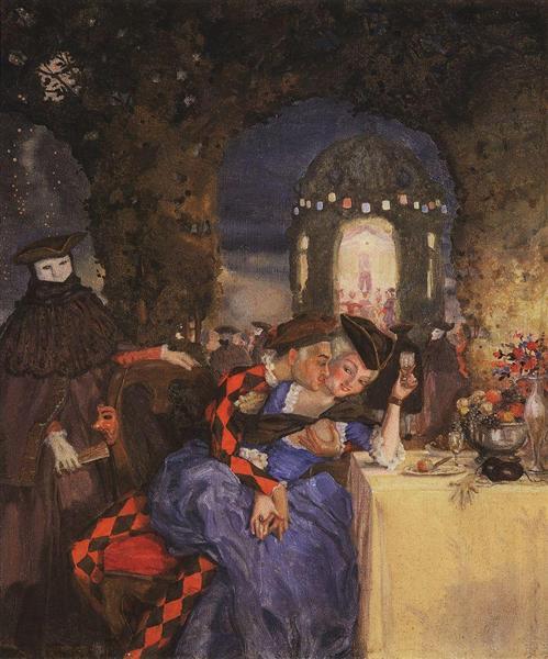 Gallant Scene (In the garden), 1918 - Konstantin Somov