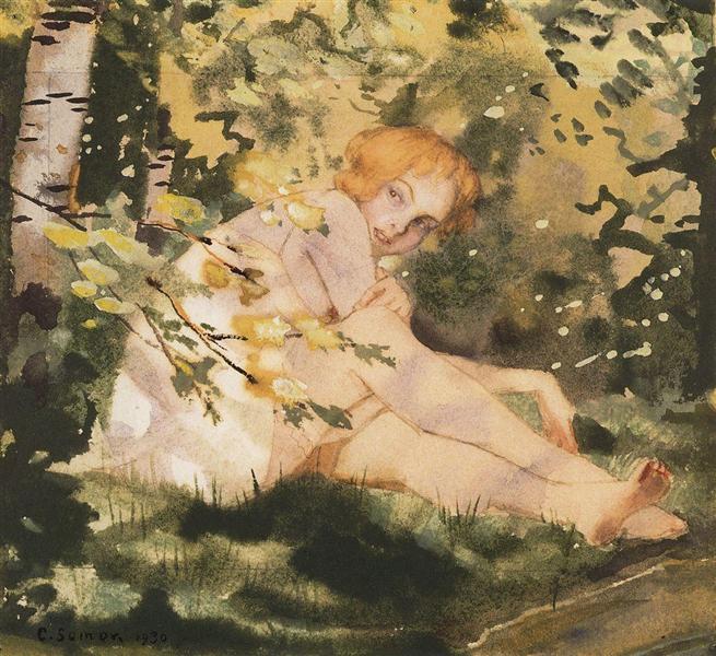 Girl Under the Sun, 1930 - Konstantin Andrejewitsch Somow