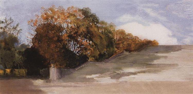 In the Park of Versailles, 1897 - Konstantin Somov