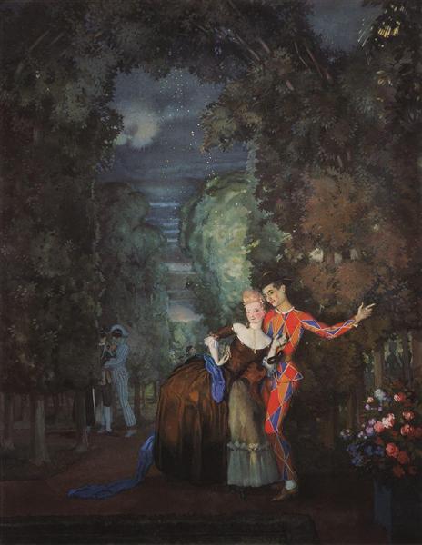 Lady and Harlequin, 1912 - Konstantin Somov