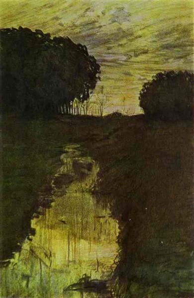 Landscape in the Evening. Martyshkino, 1896 - Konstantin Somov