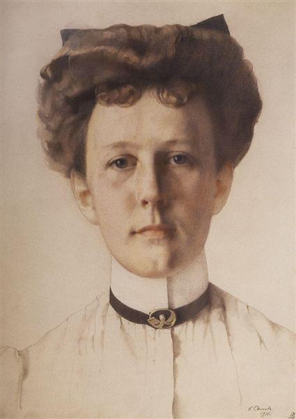 Portrait of Baroness Alexandra Nolde, 1911 - Constantin Somov