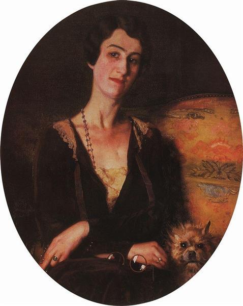 Portrait of E. Pits-Bilibina, 1926 - Konstantin Somov
