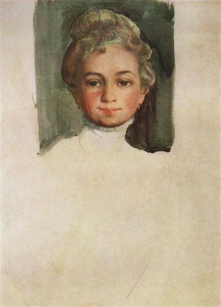 Portrait of E. Vladimirskaya, 1908 - Konstantin Somov