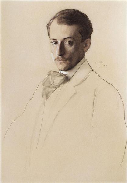 Portrait of Eugine Lanceray, 1907 - Konstantin Somov