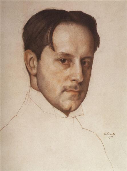 Portrait of the Artist M. Dobuzhinsky, 1910 - Konstantin Somov