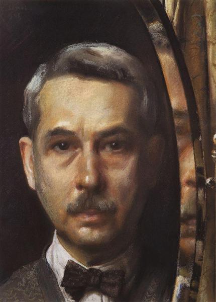 Self-Portrait in the Mirror, 1928 - Konstantin Somov