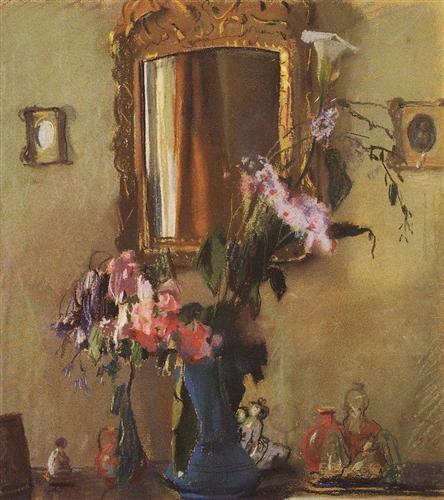 Still Life. Interior - Konstantin Somov
