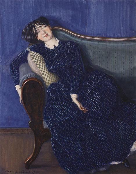 Young Woman. Asleep, 1909 - Konstantin Somov
