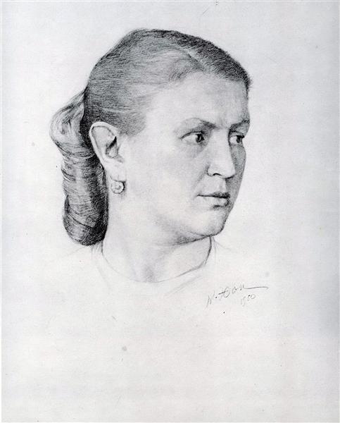 Portrait of E.A. Krilova, 1950 - Konstantin Yuon
