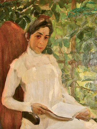 Portrait of Z.A. Pertsova, 1899 - Konstantin Yuon