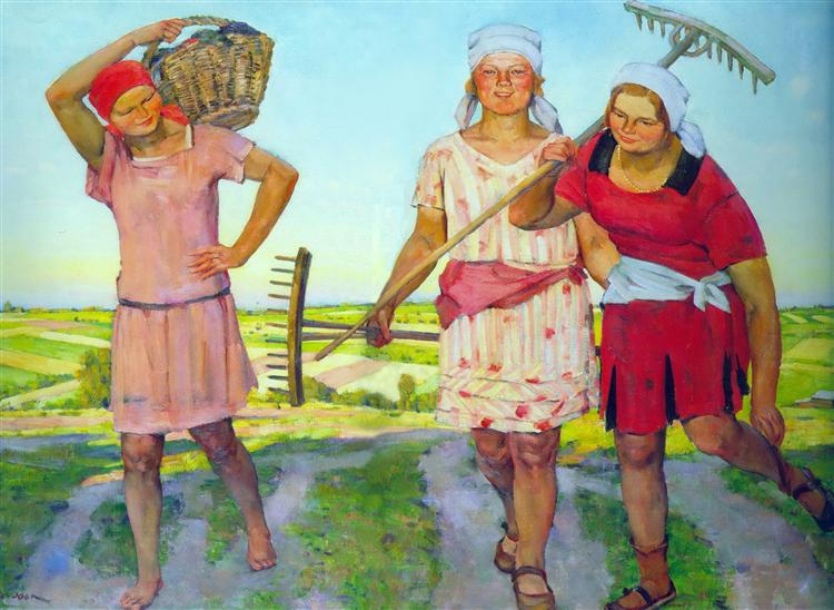 Returning from the Work, 1930 - Константин Юон