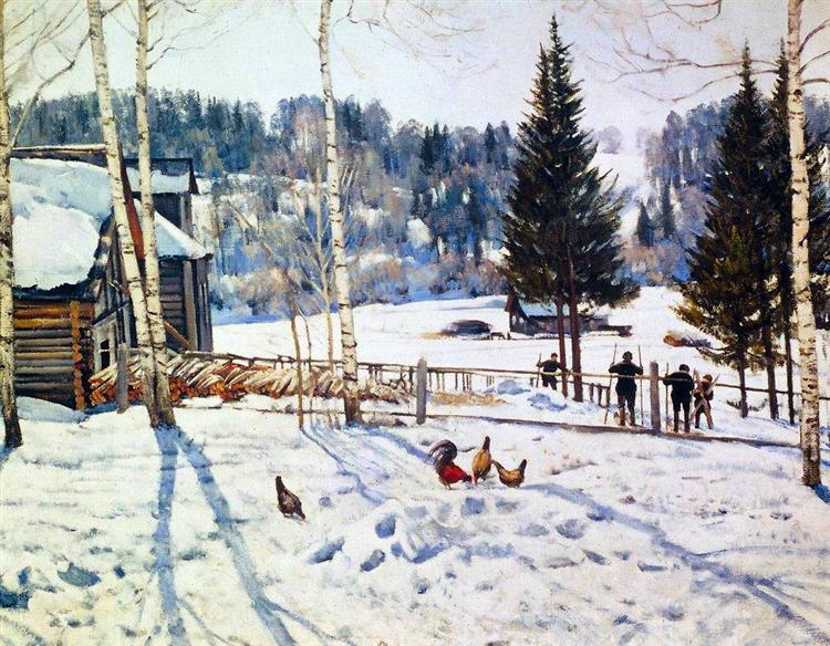 The End of Winter. Noon. Ligachevo, 1929 - Konstantin Yuon