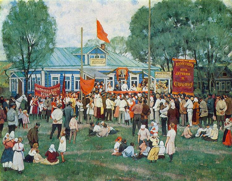The Holiday of Cooperation in Countryside, 1928 - Konstantin Yuon