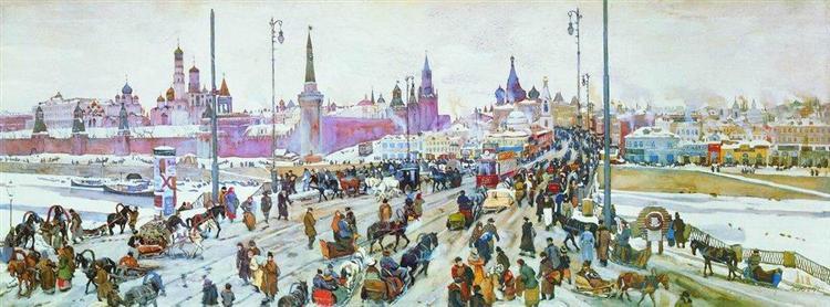 The Moskvoretsky Bridge, 1911 - Konstantin Yuon