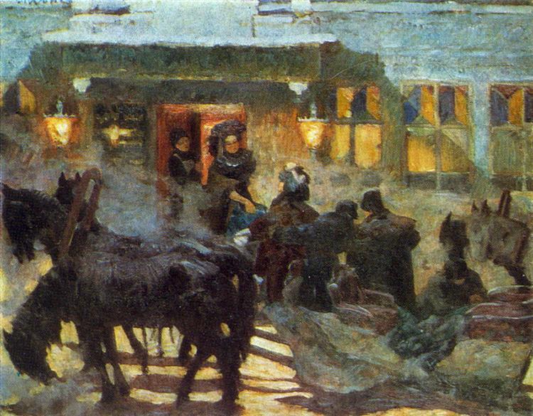 "The Triple Near Old ""Yar"", 1909 - Konstantin Yuon"