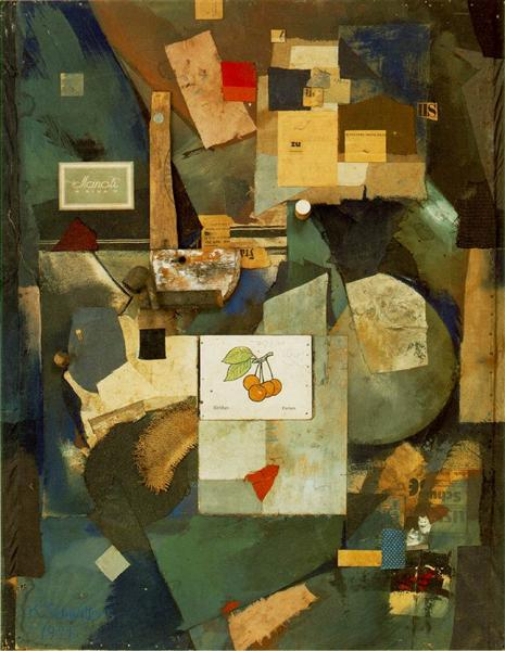 Merz Picture 32A (The Cherry Picture), 1921 - Kurt Schwitters