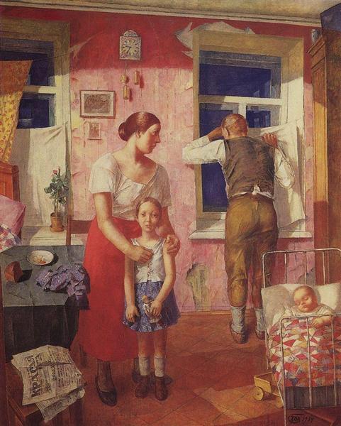1919. Alarm, 1934 - Kuzma Petrov-Vodkin