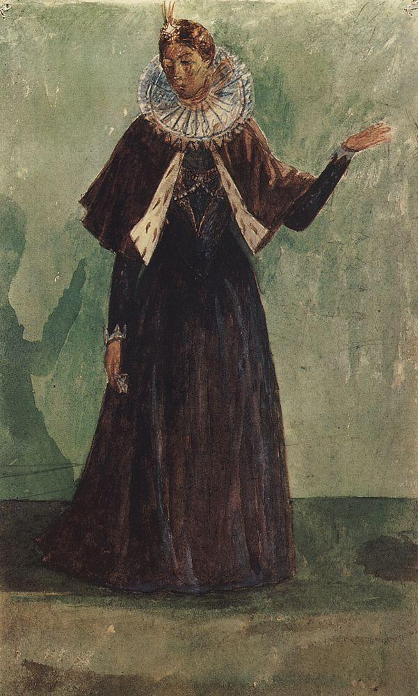 http://uploads6.wikipaintings.org/images/kuzma-petrov-vodkin/costume-design-by-marina-mnishek-to-the-tragedy-of-pushkin-s-boris-godunov-1923.jpg