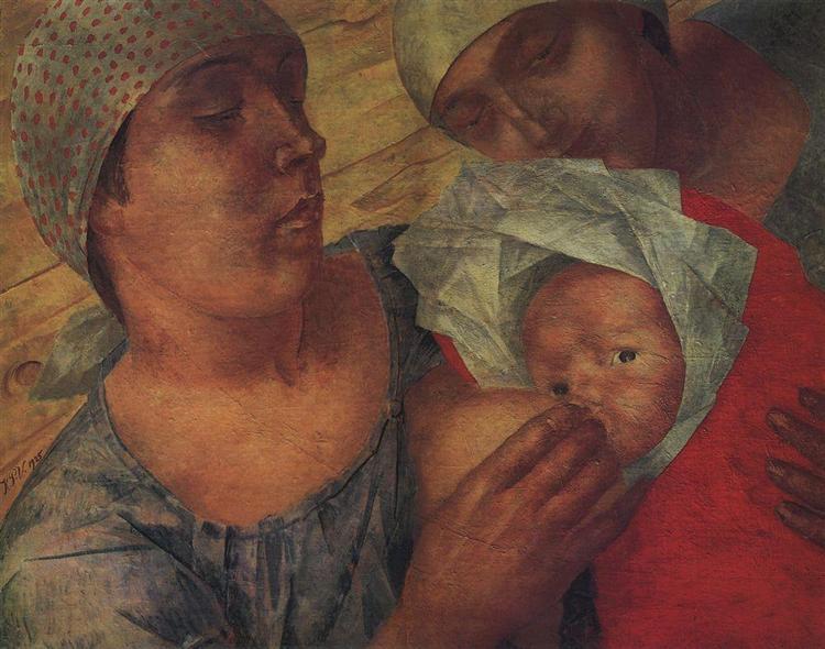 Материнство, 1925 - Кузьма Петров-Водкин