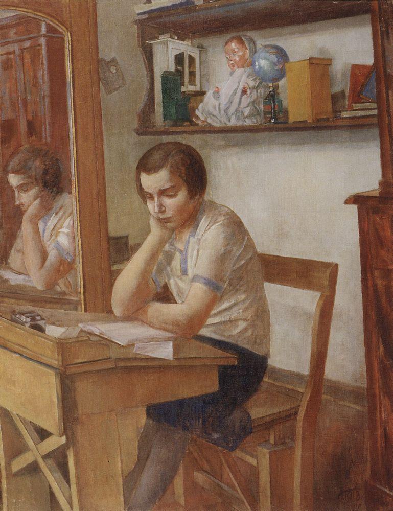 Девочка за партой (1934) — Кузьма Сергеевич Петров-Водкин