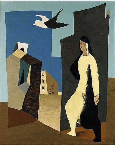 Femme et oiseau, 1927 - Leopold Survage